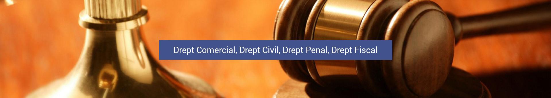 Drept Comercial, Drept Civil, Drept Penal, Drept Fiscal